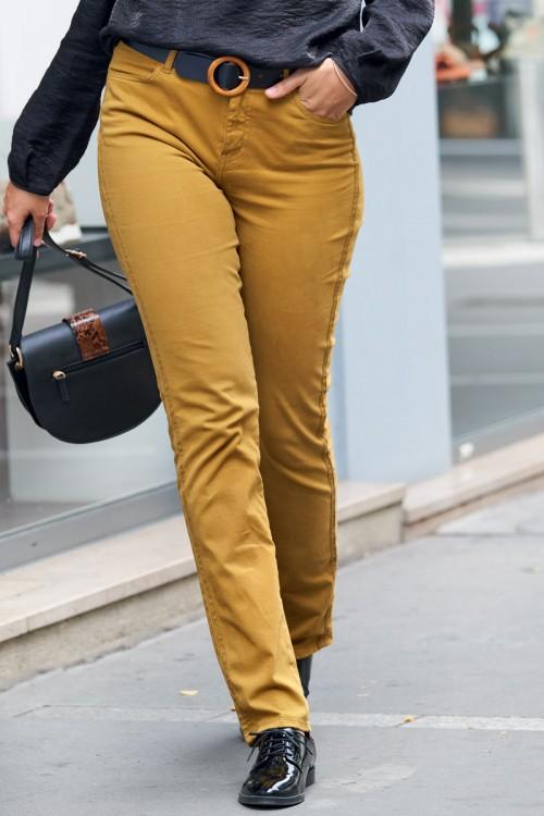 Pantalon en toile ocre