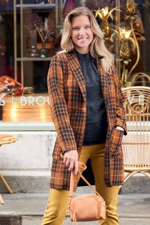 Manteau col châle