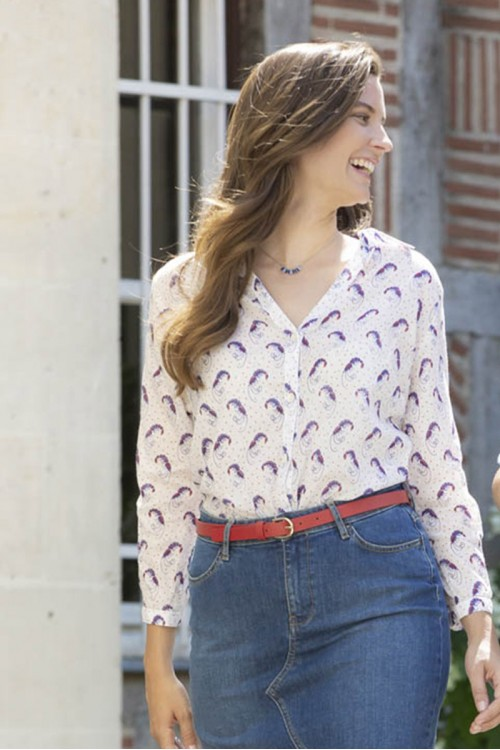 Chemise femme motif écrevisses