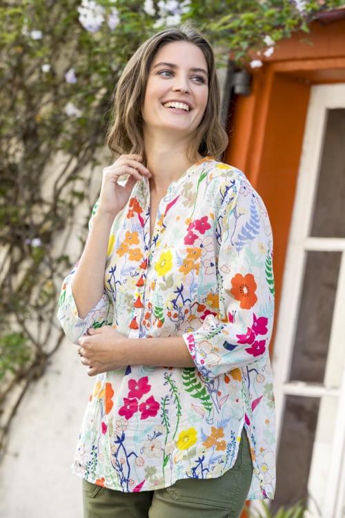 Tunique imprimée fleurie